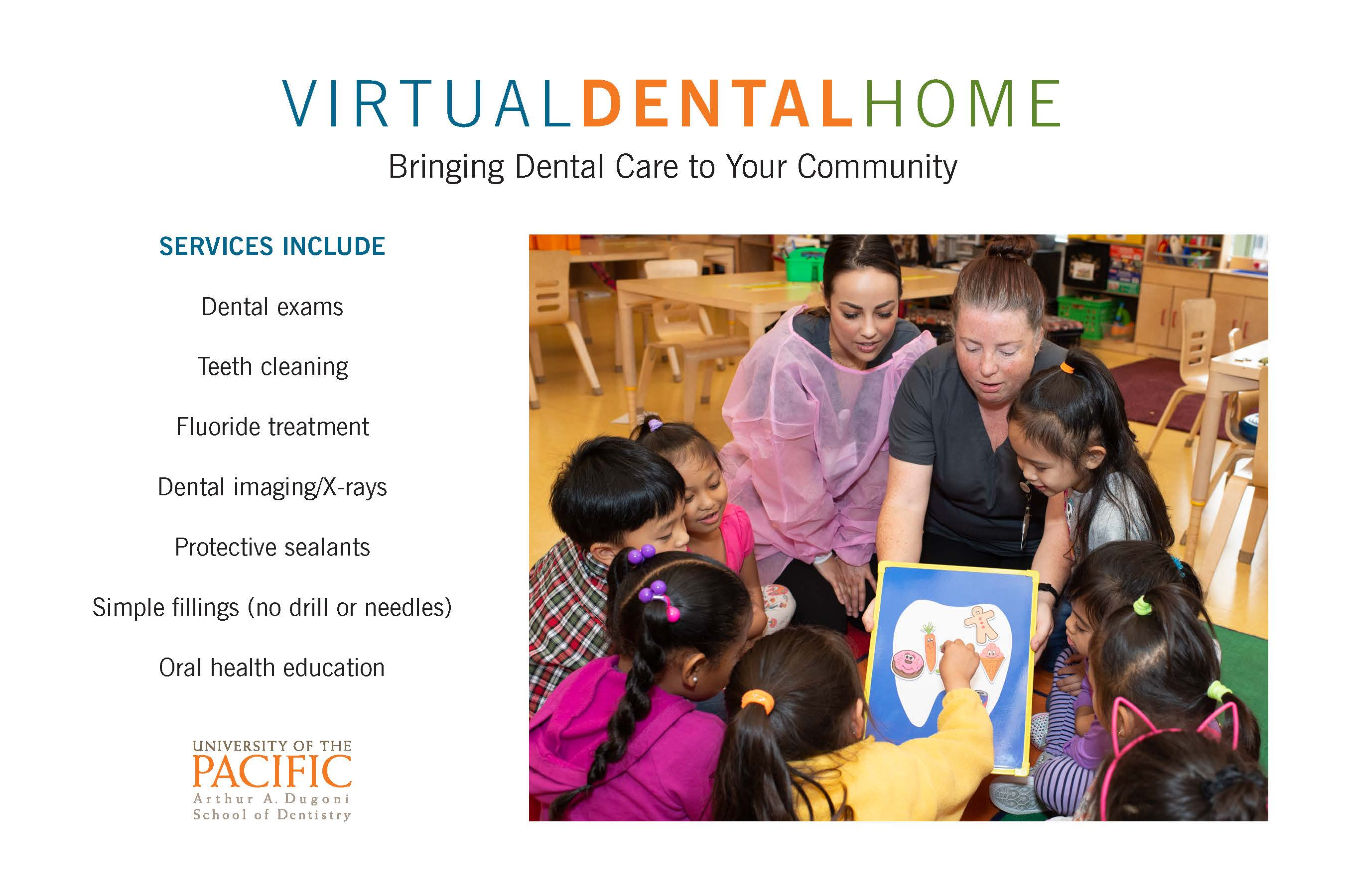 Virtual Dental Home photo, kids learning about tooth