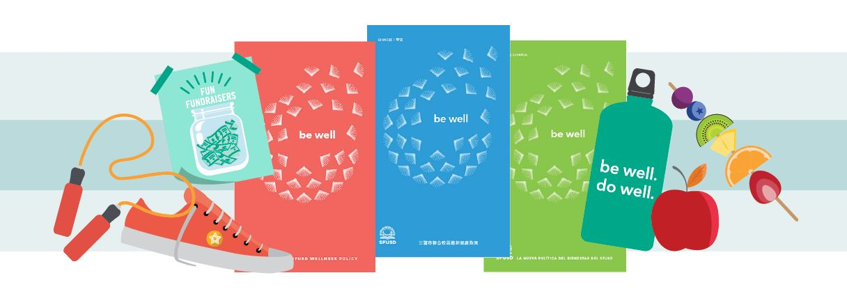 bewell booklets, nutrition, and physical activity graphic banner