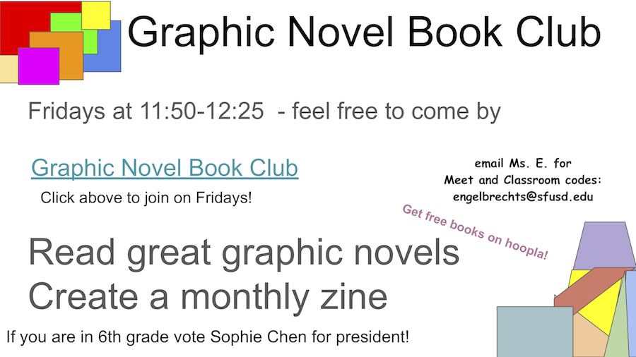 graphic novel book club flyer