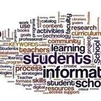 Wordle based on CA Model School Library Standards