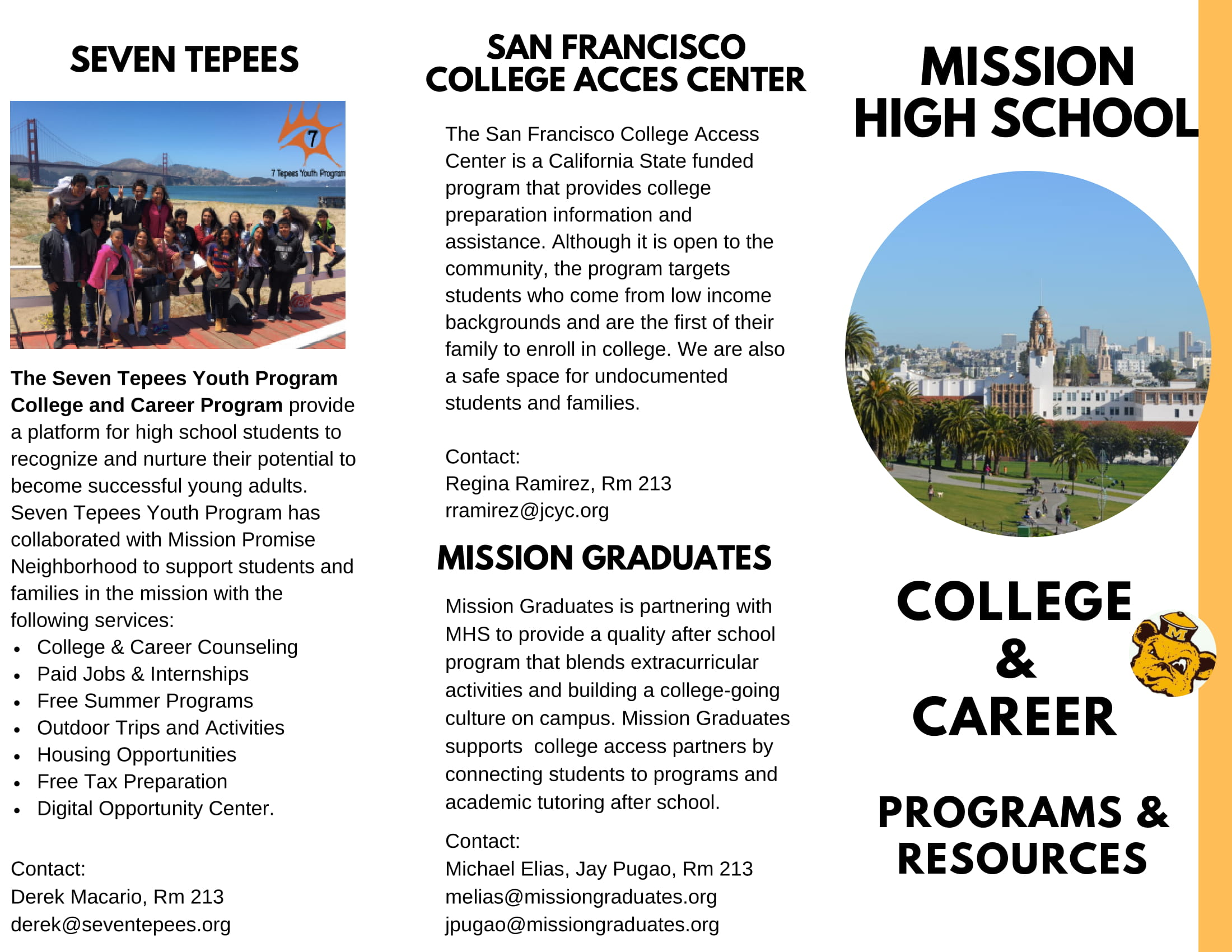 College and career team brochure page 1