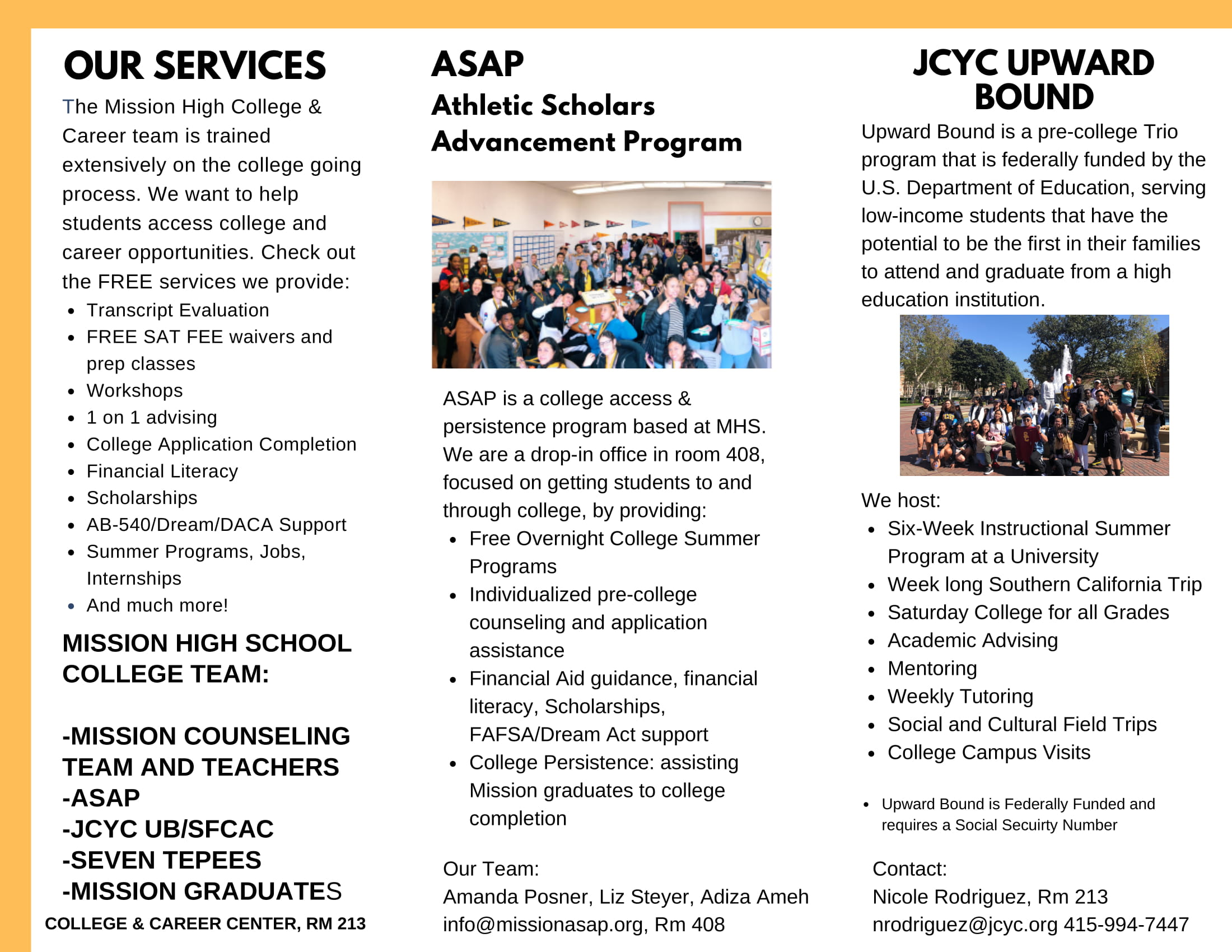 College and career team brochure page 2