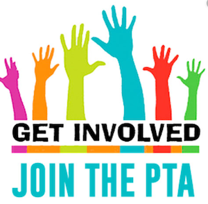 Join the PTA icon with upstretched hands