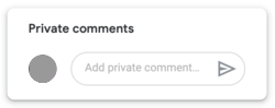 Google Classroom private comments space
