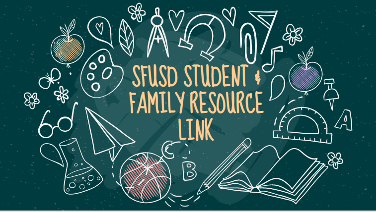 student and family resource link graphic