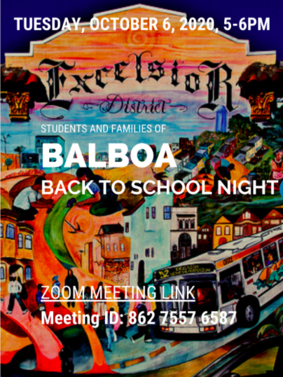 Balboa Back to School Night