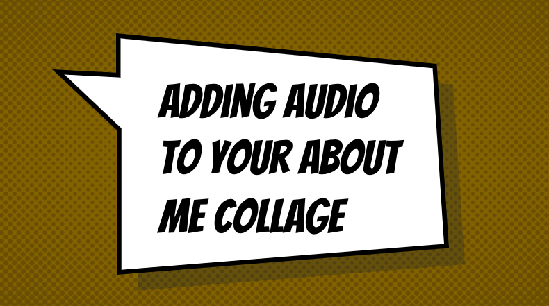 adding audio to your collage