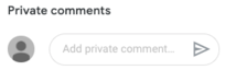 Google Classroom private comments area