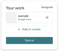 Google Classroom your work space