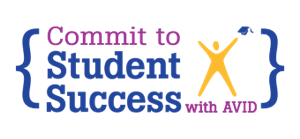 commit to AVID student success graphic
