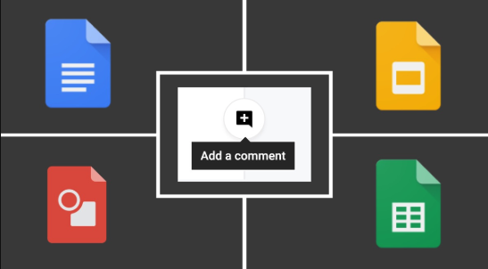 ​​Icons of Google tools that can use commenting features