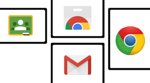 Icons for Gmail, Chrome, Classroom, & Chrome Webstore