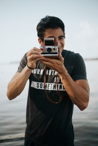 Man taking a photo