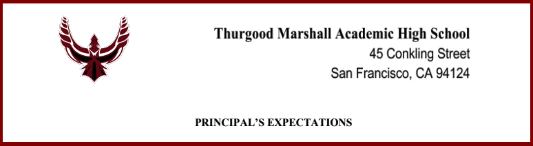 banner for principals expectations