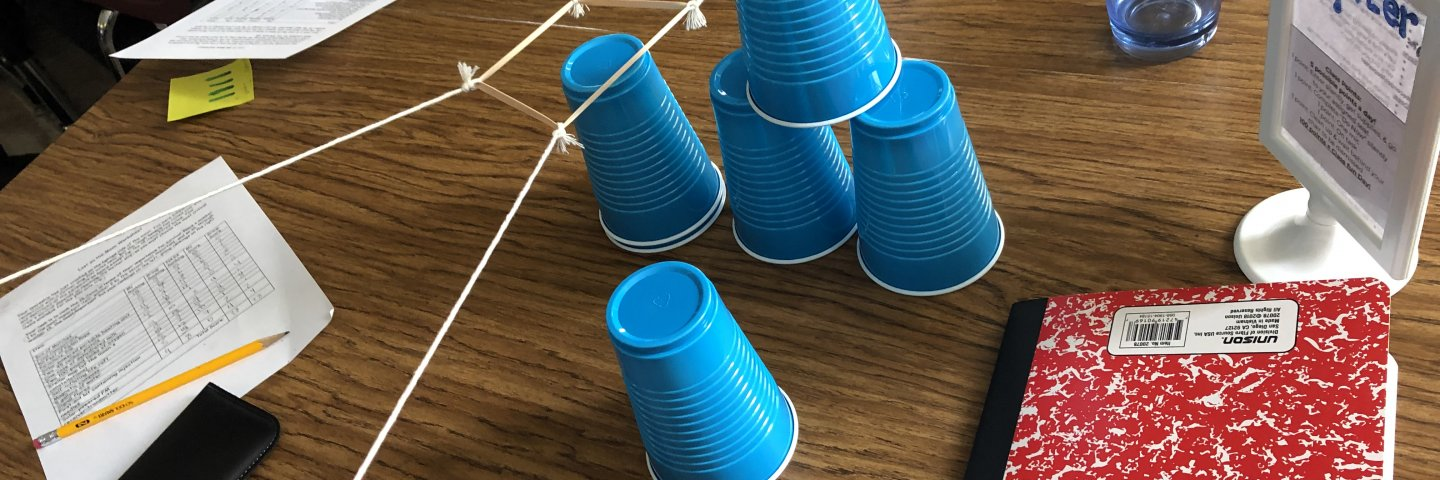 Middle School Science--Building with string and cups