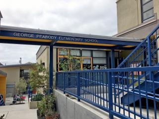 Peabody Elementary front entrance