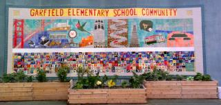 Garfield Elementary school garden and mural