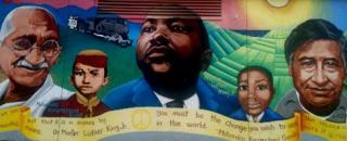 Mural featuring Martin Luther King, Jr.