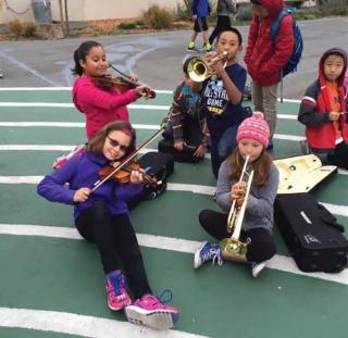 Student Musicians at Commodore Sloat Elementary School
