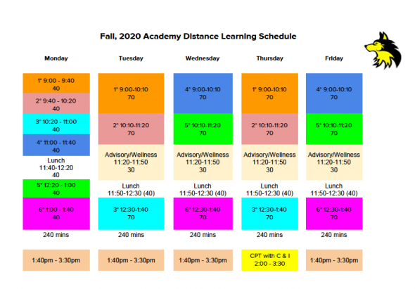Fall, 2020 Distance Learning Schedule
