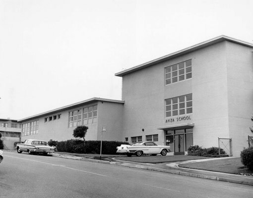 Exterior shot of Anza Elementary 1964