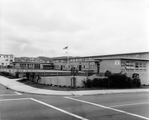 Anza school yard with flag no date