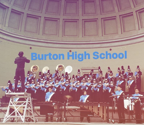 Burton High School's band