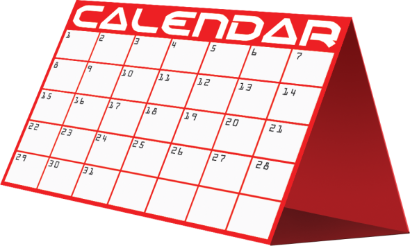 image of a calendar page