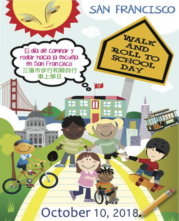 Walk & Roll to School Day poster