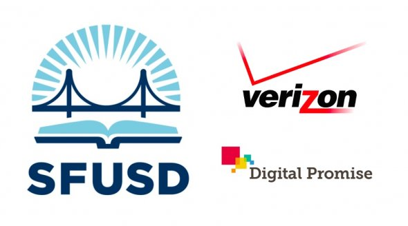 SFUSD, Verizon and Digital Promise logos