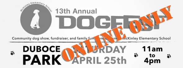The words Online Only stamped across DogFest website header