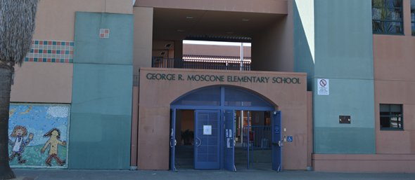 Entrance to Moscone Elementary School