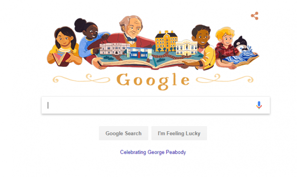 Google Doodle of George Peabody