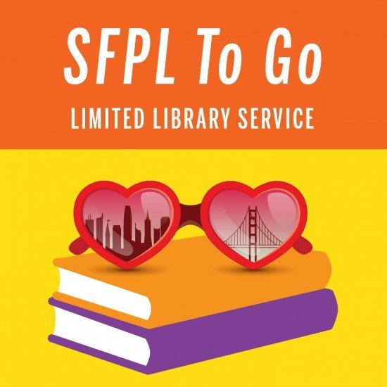 public library logo with sunglasses