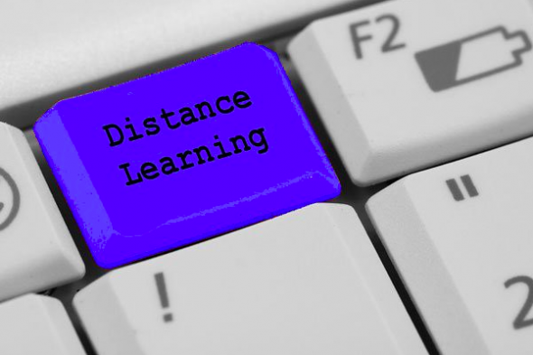 distance learning on keyboard