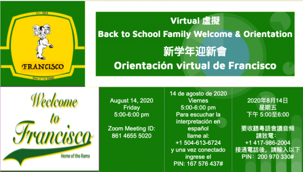 back to school Francisco 2020-21