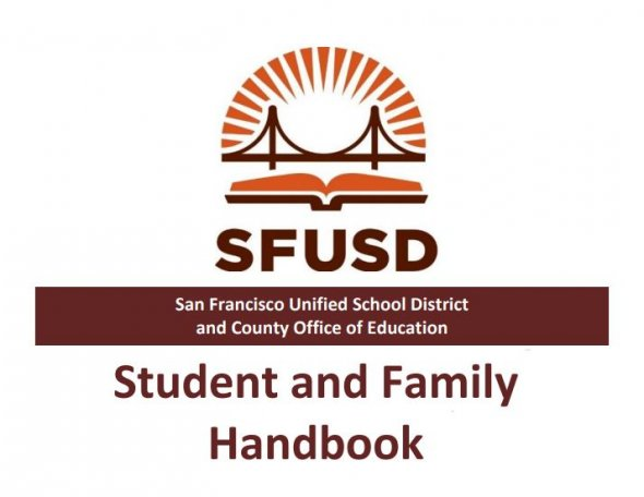 Image of cover page of the Student & Family handbook
