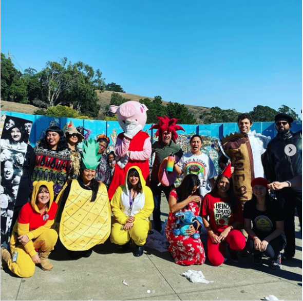 VVMS Staff in Halloween costumes
