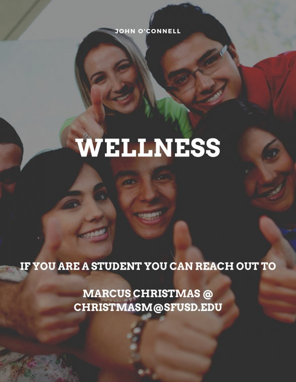 Wellness poster with social worker email @ christmasm@sfusd.edu