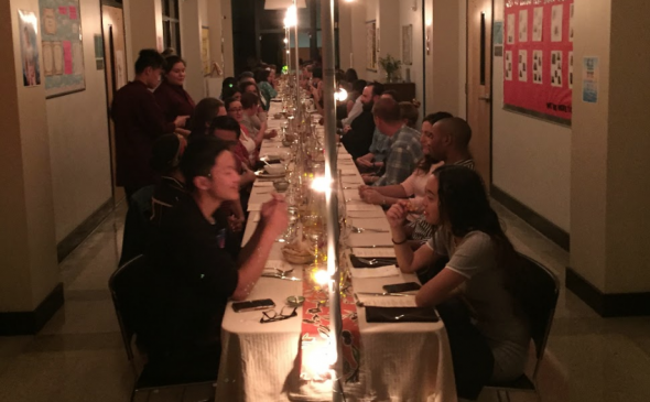 long table dinner at Ida B