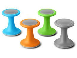 colorful wiggle chairs