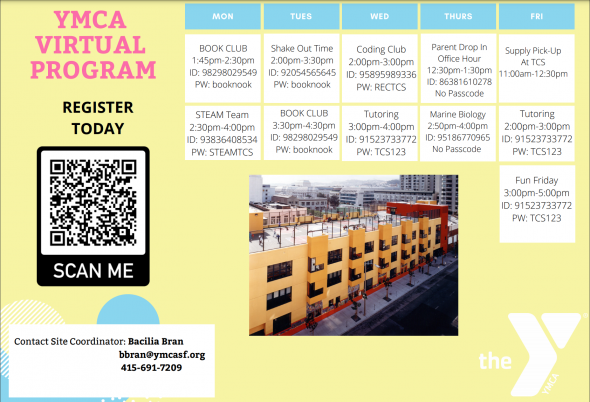 YMCA virtual program schedule