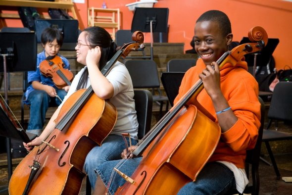 Health Ed - high school students in orchestra