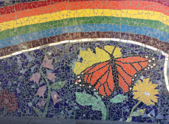 mosaic of butterfly