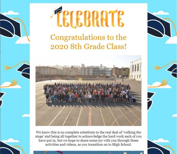 Photo of 8th Graders 2020