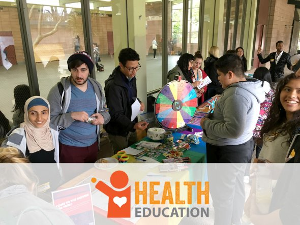 Health Ed YOWs at health fair table