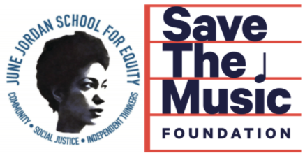 June Jordan + Save the Music Logos