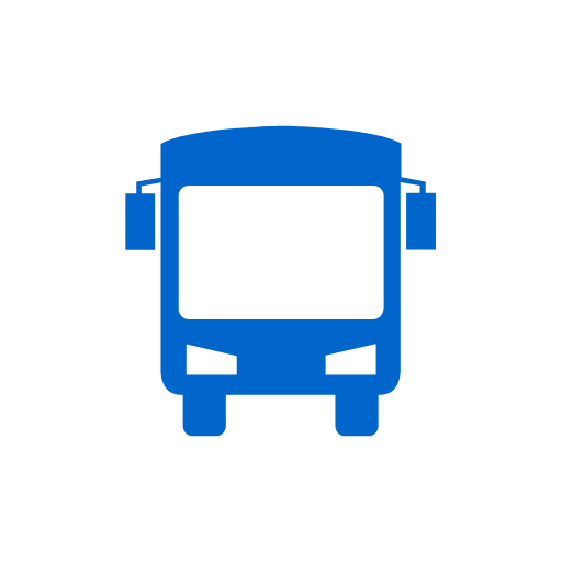 icon of blue bus