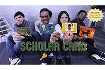 Students showing their Scholar Cards