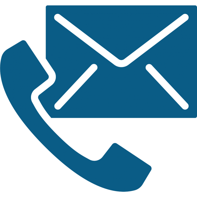Icon of a phone and an envelope